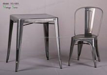 Triumph vintage metal industrial dining coffee table and chairs resturant sets