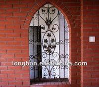 artistic wrought iron window fence