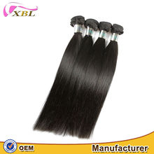 XBL soft and smooth full cuticle unprocessed 100 remy hair weaving
