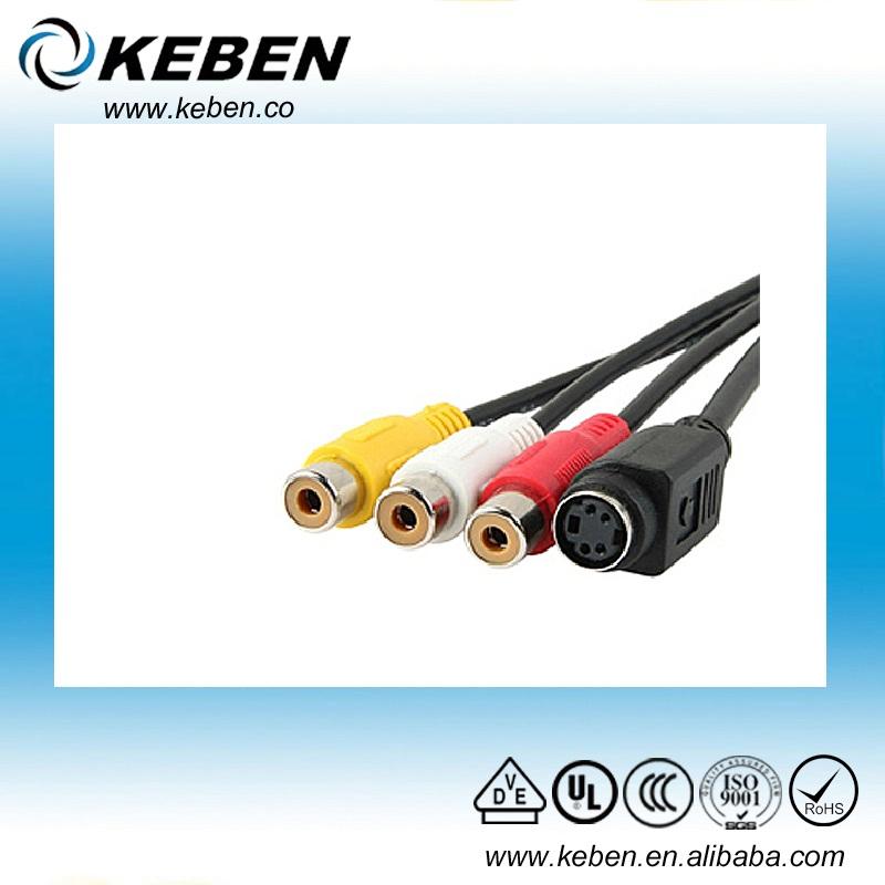 VGA to S-Video 3 RCA Composite AV Converter Adapter Cable