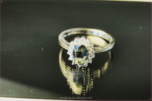 China Factory Direct Wholesale 925 Sterling Silver Women Sapphire Ring
