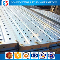 Tianjin SS Group metal Steel scaffold/scaffolding decking/planks/catwalks with hanging hooks