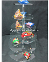 2015 6 tiers acrylic cake stand/wedding and birthday cake stand/crystal stands for wedding cakes