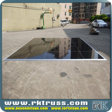 scratch resistant concrete dance floor for event
