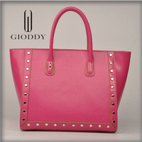 Latest design New fashion Famous brand cow leather handbag
