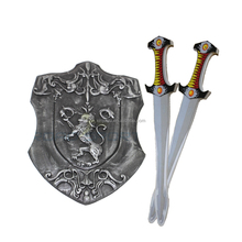 Cosplay or Game Usage Best Selling eco-friendly EVA Foam Sword and Shield, lifelike medieval foam shields and sword