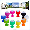Mgitec 2015 Christmas Gift Lovely Mini Sucking Portable silicon ball Speakers for cell phone