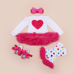 beautiful baby girl clothes set,headband+warmer leg+shoes+jumpsuit