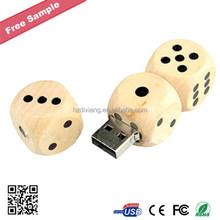 Dice Shape Wooden USB Flash Drive
