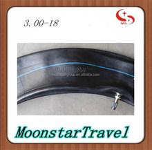 motorcycle butyl rubber inner tube 3.00-18 boy tube for Qingdao tube factory