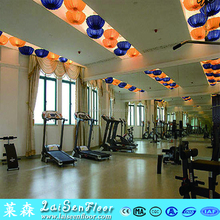 8.0 thickness pvc sports surface for fitness center or gym