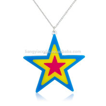 Most beautiful popular colorful chunky acrylic star necklace