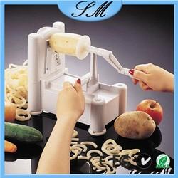 Professional manufacturer multifunction Tri-Blade Plastic Spiral Vegetable Slicer/cutter