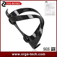 Full carbon fiber water bottle cage OG-BC002 OEM 3K clear coating with high quality super light
