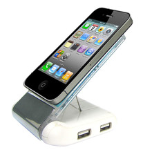 foldable card reader silicone mobile phone holder with usb hub