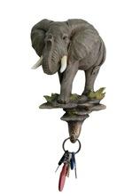 Wall decor polyresin elephant with hook