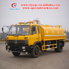 Dongfeng tractor water tanker 10000liter water tank truck dimension for sale