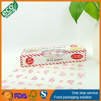 Chinese hot sell chinese wax paper printed pink flower 50sheets in a color box candy wrapping paper
