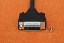 DVI-I 24+5 Blende mit Kabel Bu/Bu