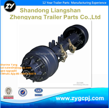 ZY manufacture Truck semi trailer parts 15T American type Axle with brake system