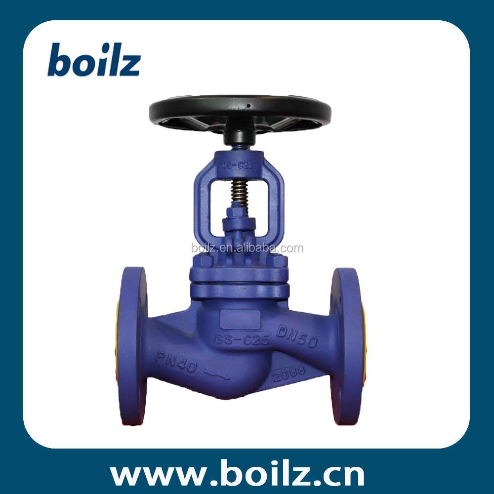 Manual bellow type ptfe packing stop valve with handwheel