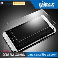 2015 99% clear 0.26 0.33mm ultra thin 9H 2.5D round edge Nippa glue mobile phone Tempered Glass screen protector for HTC One M7