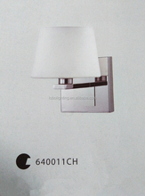 single lamp wall sconce with round white opal glass/lighting wall bracket/lamps and lighting hotels wall brass