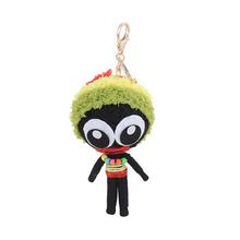 Handmade comics 2016 trend string voodoo doll keychain ornament key ring