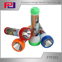 FTP201 High power 1 led plastic flashlight in chaozhou