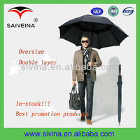 30 inch 8k double layer auto open windproof straight promotion golf umbrella