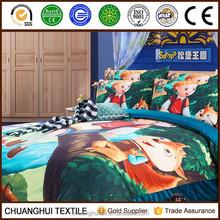 2015 Hot 4Pcs 3D Brushed Printed cartoon story children bed linen set