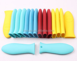 FDA quality custom made silicon protect sleeve rubber handle cover Cookware Accessories Silicone Pot Handle Cover