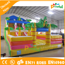 Inflatable durable water lane slip for rental,slip n slide inflatable for adult