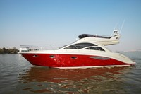 SANJ high quality Luxury fly bridge motor yacht motor boat diesel boat cabin boat