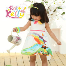 Happy baby girl dress casual cotton modal sweet child clothing