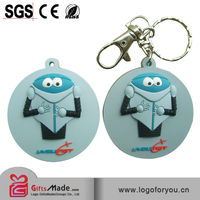 Fashional wholesale custom rubber keychains motorcycle