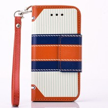 Hot England Style Magnetic Flip PU Leather Cell Phone Cases For Apple iPhone 5 5S