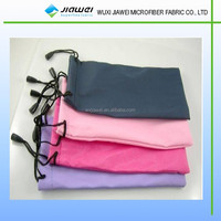 microfiber glasses bags with two-side drawstring