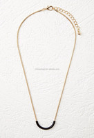 Curved Bar Charm Necklace