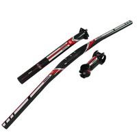 Fast shipping new carbon MTB handlebar bicycle seatpost stem lightweight mountain bike handlebar set