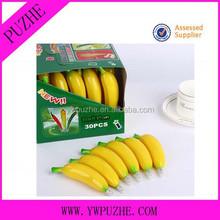 Promotional banana shape ballpoint pen/ fruit ballpoint pen