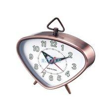 Triangle Mechanical alarm clock Antique gold