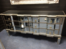 wooden carved beds big mirrored side board-2015 hot