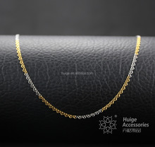 Birthday present gold and rhodium plated necklaces jewelry of yiwu