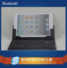 English Amazon Broadcom Silicone Keyboard Pu Leather Case Wireless Bluetooth Stand Keyboard Cover For Ipad Mini