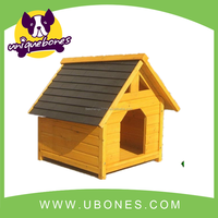 Retail! strong durable wooden dog house with balcony made with fir wood dog house pet kneel