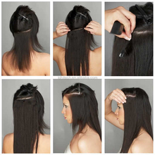 grade 7a virgin brazilian hair wholesale remy virgin human hair weft silky straight remy human hair clip on ponytail extension