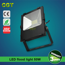 2015 hotsale led flood light with Meanwell driver 50W IP 65CE Rohs certificated 3 years warranty