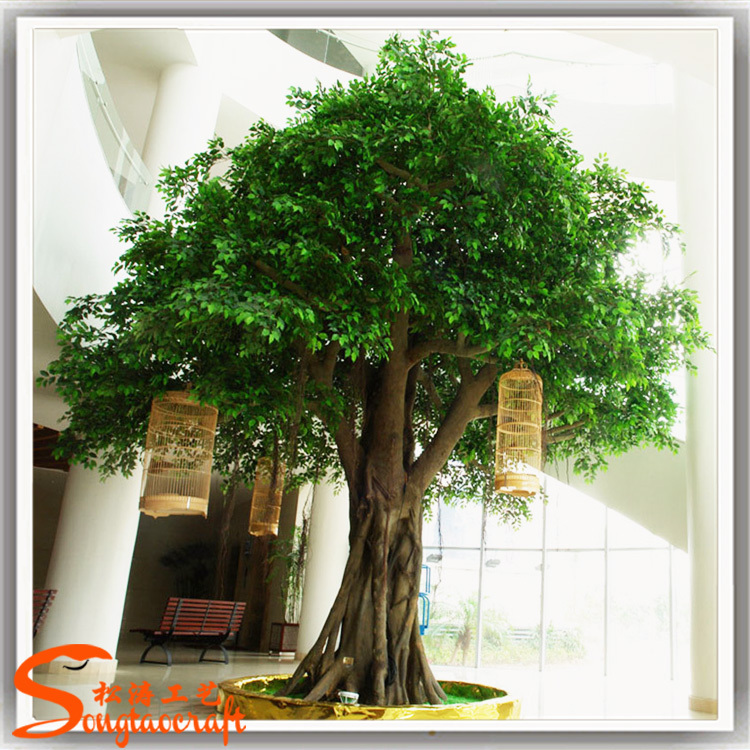 2015 wholesale cheap indoor artificial ficus banyan tree for Cheap trees