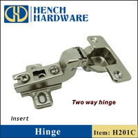 H201 insert lamp concealed door hinge